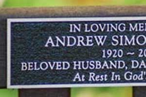 "Online Sign Maker | 12"" High Cast Aluminium Memorial Plaque"